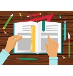 School books concept vector