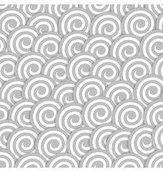 Seamless pattern with stylized clouds vector