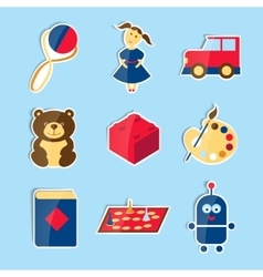 Set of icons for toys store vector