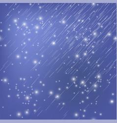 shooting stars on nignt sky meteor shower vector image