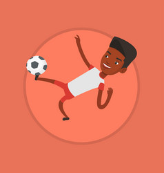 soccer player kicking ball vector image vector image