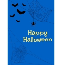 spider webs and bats vector image