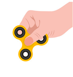 spinner in the hand a toy for stress removal vector image vector image