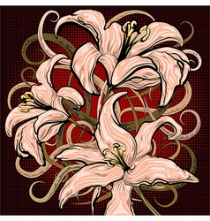 The lilies vector