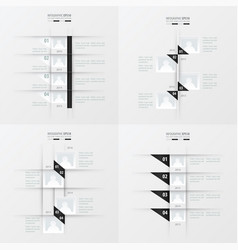 Timeline design 4 item black and white color vector
