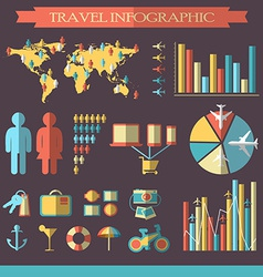 Travel infographics with icons vector image