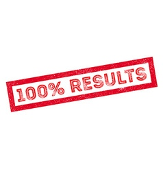 100 percent results rubber stamp vector