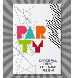 Party advertising card design vector