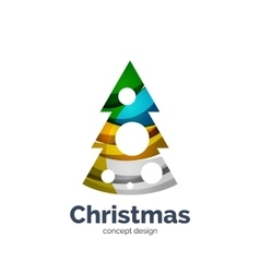 Abstract geometric christmas tree icon vector