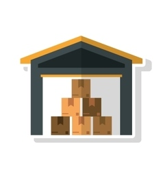 Packages of delivery and shipping concept vector