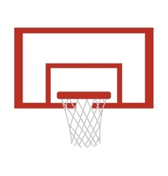 Silhouette colorful with square basketball hoop vector