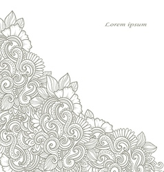 Hand-drawn decorative floral angle vector