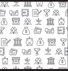 Different line style icons seamless pattern bank vector