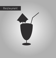 Black and white style icon cocktail vector