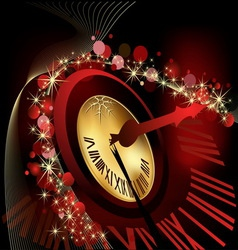 Merry christmas and happy new year background gold vector