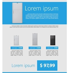 Flat minimalist template business design fridges vector
