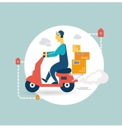 delivery scooter icon vector image