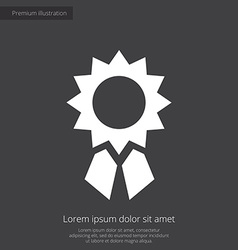 Achievement premium icon white on dark background vector