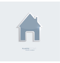 Plastic icon house symbol vector image