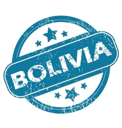 Bolivia round stamp vector