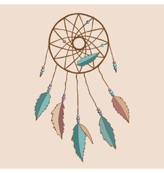 Beautiful indian dreamcatcher vector