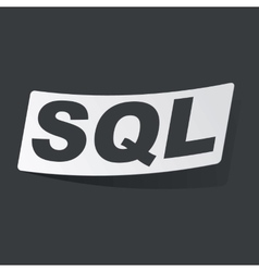 Monochrome sql sticker vector