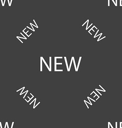 New sign icon arrival button symbol seamless vector