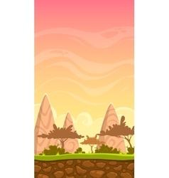 Cartoon savanna landscape vector image