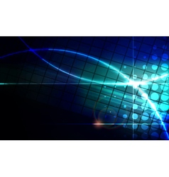 Abstract blue lens flare technology background vector