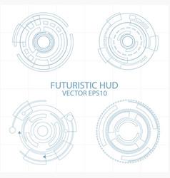 abstract circle futuristic elements digital vector image