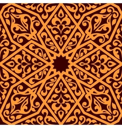 Arabian seamless tile pattern vector image