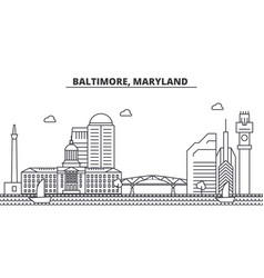 baltimore maryland architecture line skyline vector image