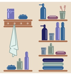 Bathroom elements vector