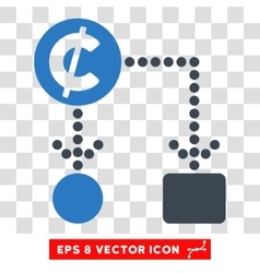 Cent cashflow eps icon vector