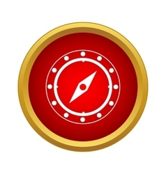 Compass icon in simple style vector