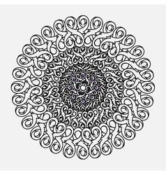 contour monochrome Mandala ethnic religious design vector image vector image
