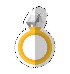 diamond ring wedding icon vector image