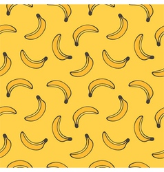 Doodle banana seamless pattern background vector