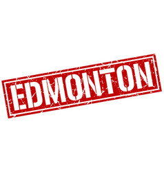 Edmonton red square stamp vector