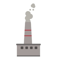 factory chimney icon vector image