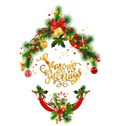 gold holiday greeting vector image vector image