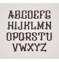 Gothic label font cognac style vector