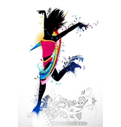 Grungy Dancer vector image