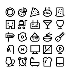 Hotel and restaurant icons 11 vector