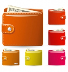 leather wallets vector image vector image