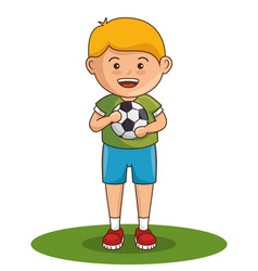 little boy athlete character vector image