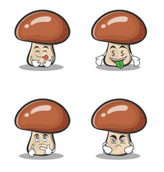 Mushroom character cartoon set collection vector