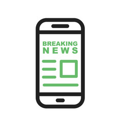 News report on mobile vector
