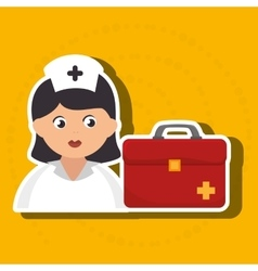 Nurse cartoon care medical vector