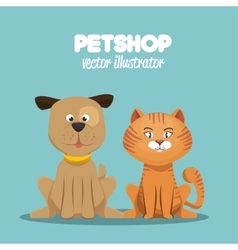 petshop veterinary symbol icon vector image